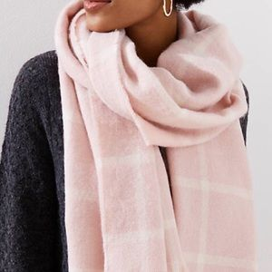 LOFT Pink Plaid scarf